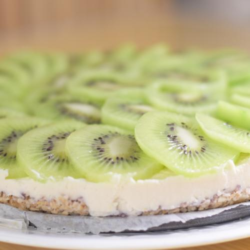 cheese cake de coco y kiwi